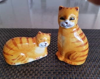 Vintage Ginger Cat Salt & Pepper Shakers