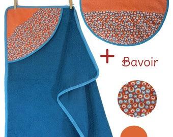 Bath + multicolored bubbles print bib - birth gift