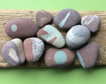 Beach pebbles , Scottish beach pebbles , Scottish pebbles , pebble collection , patterned pebbles , unusual pebbles , beach stones