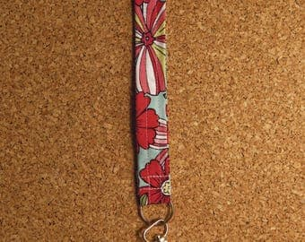 Multi Color Floral Key Fob