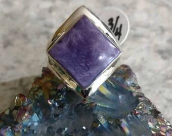 Charoite Ring, Size 6 3/4