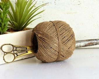 Ficelle de chanvre naturel cru Français, boule de corde, ficelle de chanvre de métier, de chanvre chanvre bio ficelle, ficelle de jardin naturel, ficelle de chanvre, artisanat d'approvisionnement,