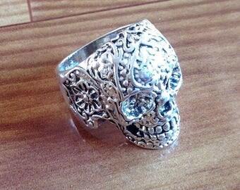 Ethnic Skull Ring