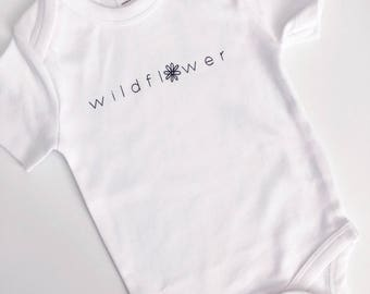 Wildflower Onesie . 100% Organic Cotton
