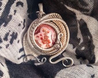 Crazy Lace Jasper pendant
