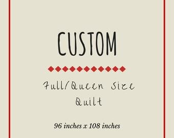 Custom Rag Quilt: Full/Queen Size
