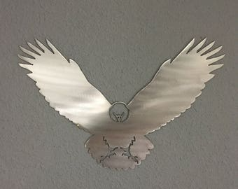 Eagle Metal Wall Art American Bald forest Wildlife Cabin Forest Skilwerx house 1
