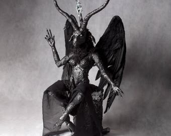 Small Baphomet - full figure baphomet sculpture w/throne