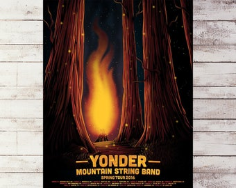 Yonder Mountain - Spring Tour (screenprint)