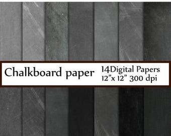 """40%SALE Chalkboard digital paper: """"CHALKBOARD PAPER"""" Chalkboard Background chalkboard textures grunge gray chalkboard schoolboard  invitatio"""