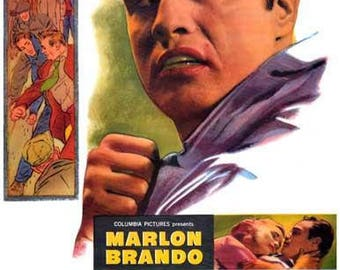 On the Waterfront Marlon Brando Movie Rare Vintage Poster