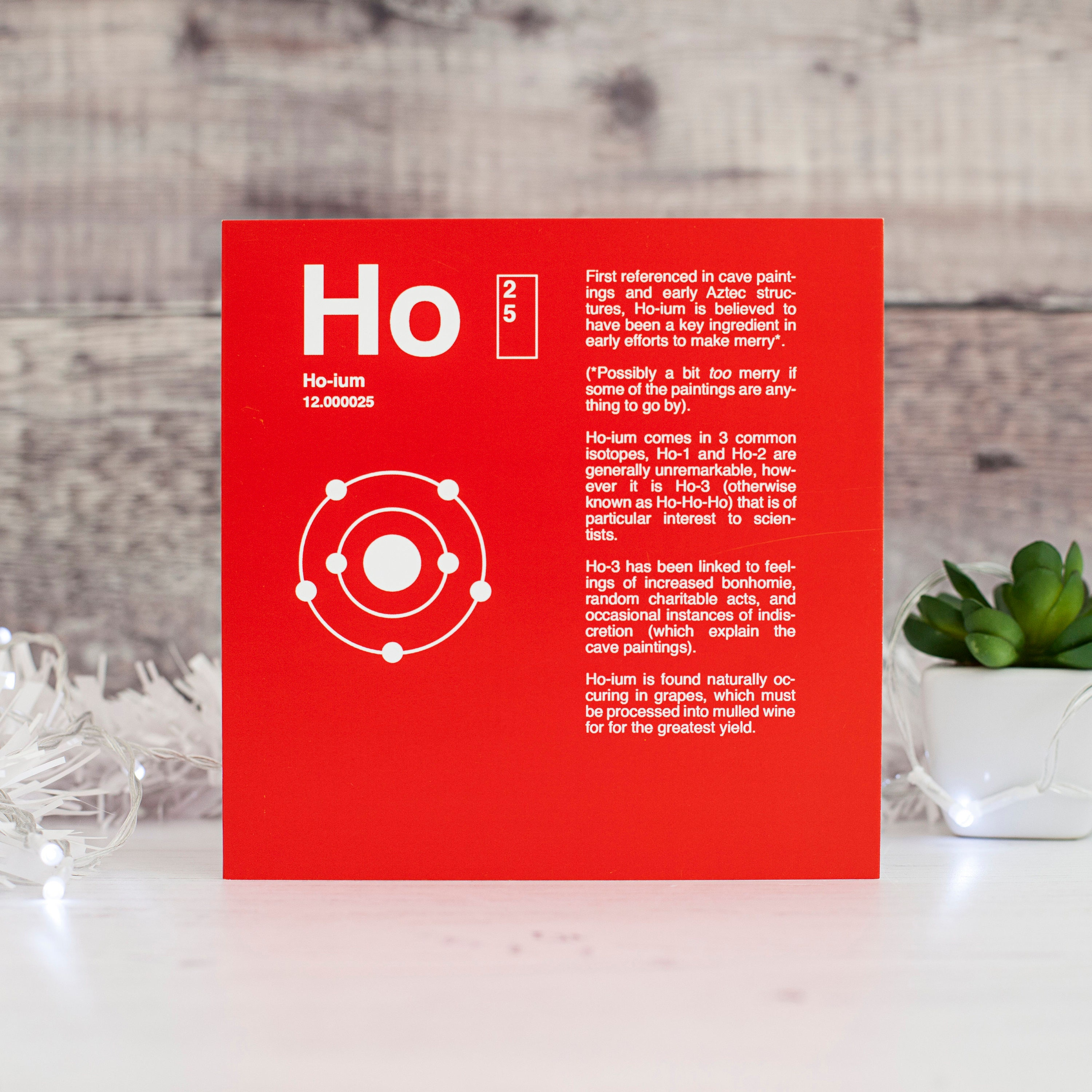 Geek xmas card periodic table hoium funny christmas card zoom gamestrikefo Image collections