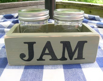 Jam/Jelly Caddy - Wood Jam Mason Jar Holder