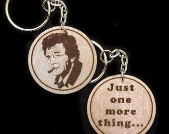 Columbo Peter Falk Hand Made Engraved Wood Keyring Keychain by JayEngrave