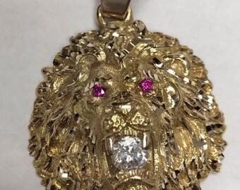 Lion silver charm 925