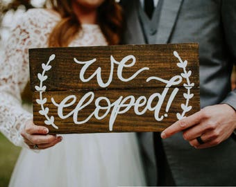 We eloped pallet sign