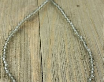 Vintage Gray Beaded Necklace