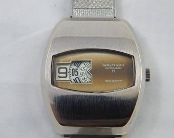 Vintage Waltham 17 Jewel Swiss Jump Watch Automatic