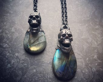 Labradorite Necklace   Skull Necklace   Witch   Totem