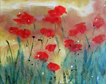 """Painting flowers """"Poppies"""""""