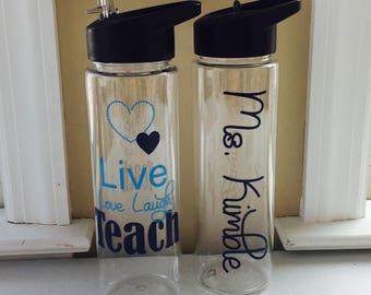 Teacher Gift, Gift For Teacher, Christmas Teacher Gift, Personalized Teacher Gift, Personalized Water Bottle, Teacher Apple Water Bottle