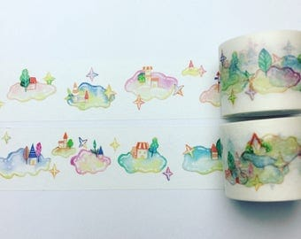 Magical cloud washi tape