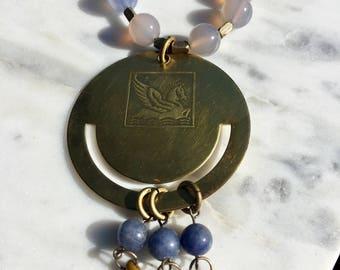 Brass Pegasus Necklace