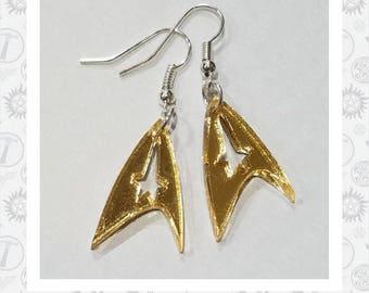 Command Badge Earrings - Star Trek Inspired