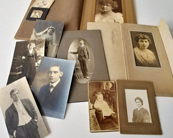 Early 1900s Pictures, Vintage Photography, Parlor Cards, Photos, Pack 1, Free Shipping