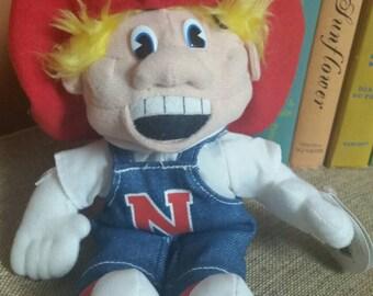"Nebraska Cornhuskers Mascot ""Herbie"" Collegiate Critters/Football Mascot/Official Licensed Collegiate Product/Plush Beanie"