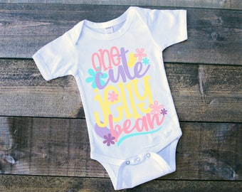 Baby Easter Shirt, One Cute Jelly Bean, Easter Shirt, Baby's Easter, First Easter, Easter Bodysuit, Bodysuit, Easter, Jelly Bean Easter