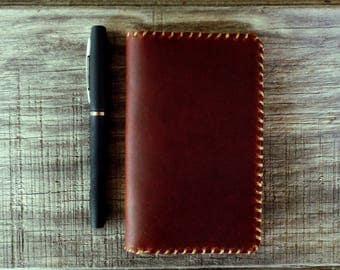 Handcrafted Leather Notepad Cover - For 3x5 Notepads
