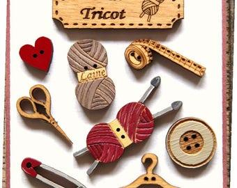 knitting workshop button