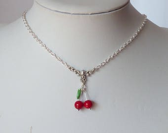 rockabilly cherries necklace tattoo collier pin up cerises tatouage