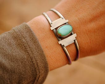 Southwestern Turquoise Cuff | Sterling Silver