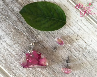 Set Rose-resin/sets rose petals