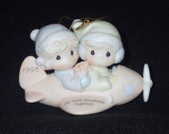 Precious Moments 1998 Our First Christmas Together Ornament #455636