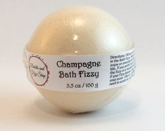 Bath bomb - Bath fizzy - Champagne scented - Ginger ale - Gift for her - Birthday gifts - Gifts under 10 - Bath bombs wholesale - Lush bath