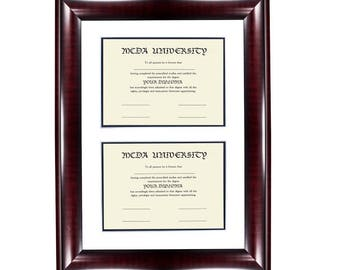 """Double opening diploma frame 8.5""""x11"""""""