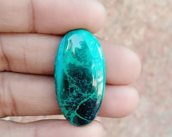 Warm sell 29ct Chrysocolla Natural Gemstone Super Quality AAA+++  Cabochon , Smooth, Oval Shape, 32x16x5mm Size, AM268