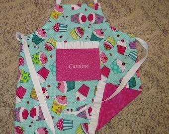Ruffled Toddler Apron, Kids Apron, Chef apron, Cupcake apron, Girl's apron