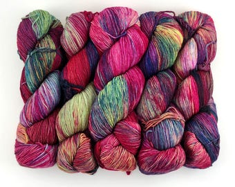 Malabrigo Sock Yarn Aniversario 5 Superwash Merino Wool Hand Painted Merino Fingering Weight Yarn Fingering Wool Rainbow Sock Yarn 440 Yards