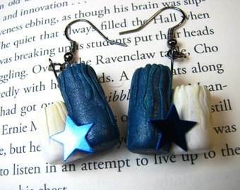 Ravenclaw House Inspired Candle Earrings-Wise and Witty-Wizarding Houses-Earrings-OOAK