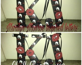 5in Marilyn Monroe inspired letters