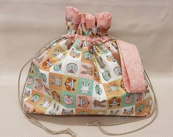 Cute Animal Project Bag - Knitting - Crochet