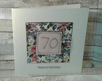 SALE/ REDUCED / CLEARANCE / sale cards/ 70th birthday cards/ 70th / birthday card /age cards
