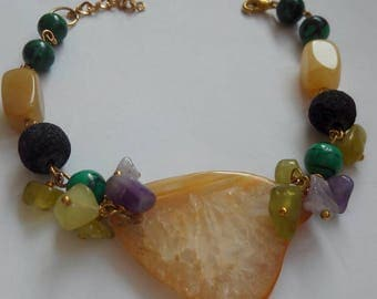 Agate bracelet with real stone