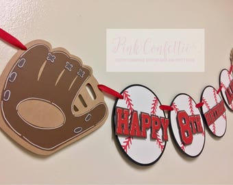 Baseball Birthday Banner/ Baseball Party Banner