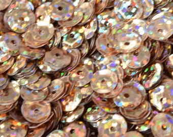 3/4/6mm Light Brown  Cup Glossy Iridescent Sequins Sheen Round Sequins/Loose Paillettes,Wholesale Sequins,Shimmering Sequin Apparel