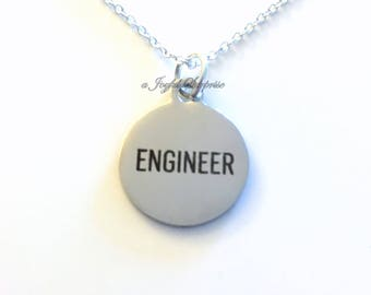 Engineering Jewelry Engineer Necklace Gift for Agricultural Biological Mechanical Bioengineer Biochemical charm birthday present man men guy